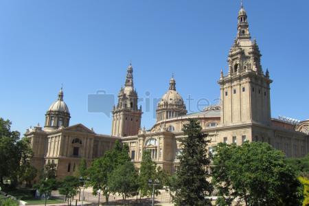 Visitando las obras de Gaudí,@Plaça de Catalunya, @Plaça d'Espanya, Museo Nacional de Arte y@Pueblo Español