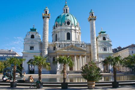 Itinerario segundo dia visitando@Palacio Belvedere, Iglesia de San Carlos, @Stadtpark
