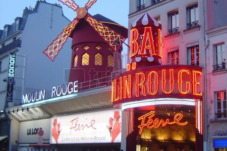 Basílica Sacré Coeur, Café de los Molinos y para terminar@Moulin Rouge